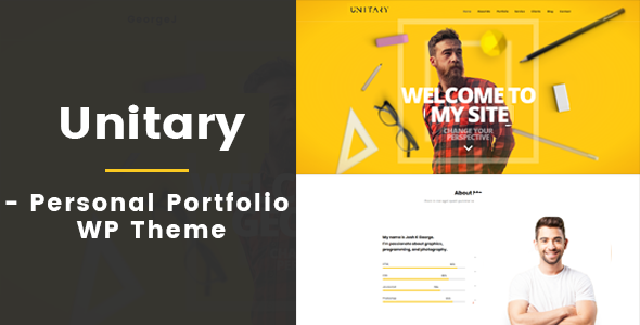 Unitary - Creative Personal Portfolio WP Theme